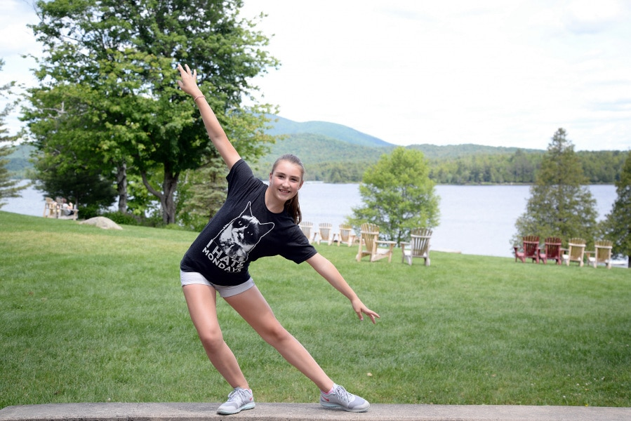 Orientation day. Allie is 12 years old and it is her 2nd time at camp. She has come to Long Lake mainly to get involved in dance. 'I want to be the best camper I can be, for me being at Long Lake allows me to follow my dreams'.